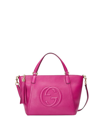 Soho Small Crossbody Tote Bag, Bright Pink