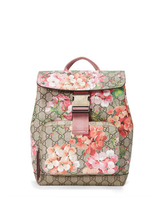 GG Blooms Small Backpack, Multi Rose
