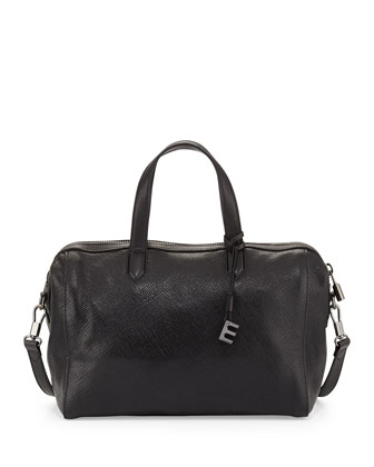 Scott Crossbody Duffel Bag, Black