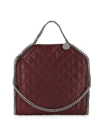 Falabella Fold-Over Quilted Tote Bag, Plum