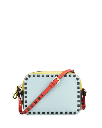 Rockstud Four-Color Camera Bag, Blue/Yellow/Orange/Green