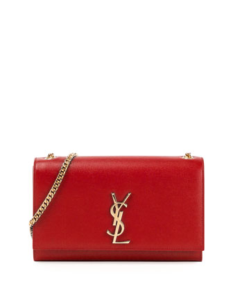 Monogram Medium Chain Shoulder Bag, Red