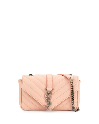 Monogram Baby Chain Crossbody Bag, Pale Pink