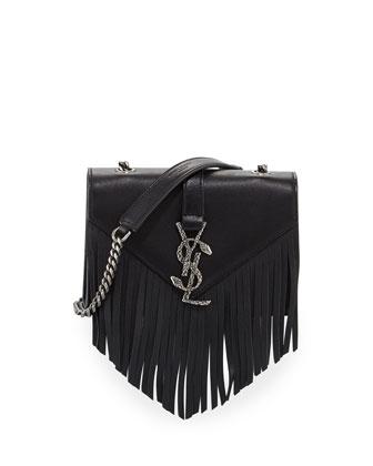 Monogram Baby Chain Serpent Crossbody Bag, Black