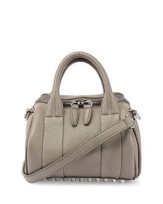 Mini Rockie Dumbo Pebbled Duffel Bag, Oyster