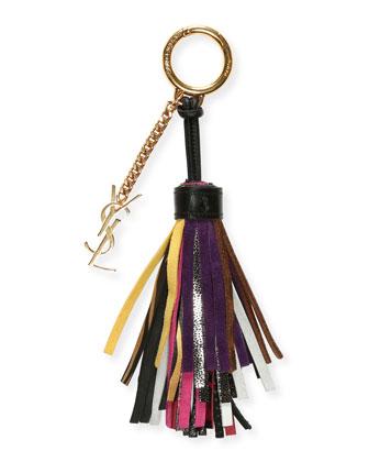 ysl cabas chyc bag price - emmanuelle tricolor fringe bucket bag, red/pink/purple