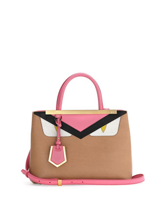 Petite Monster 2Jours Tote Bag, Tan/Pink/Yellow