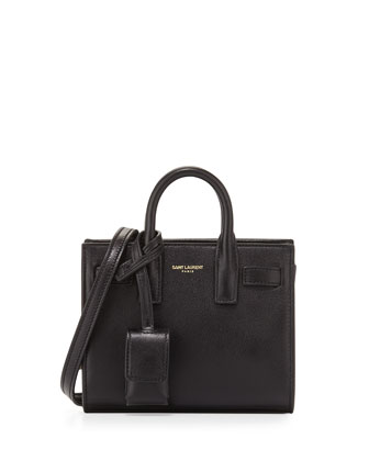 Sac de Jour Toy Grain Leather Tote Bag, Black