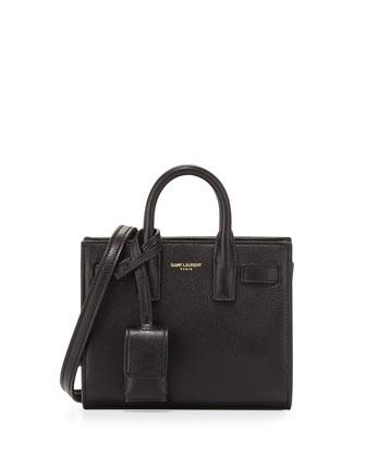 Sac de Jour Toy Grain Leather Tote Bag, Black