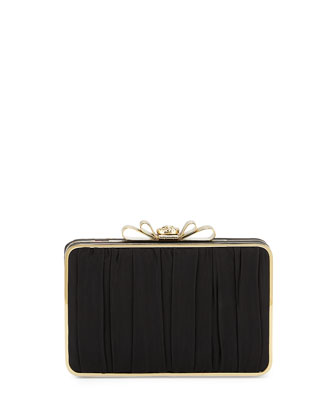 Margaery Minaudiere Evening Clutch Bag, Black