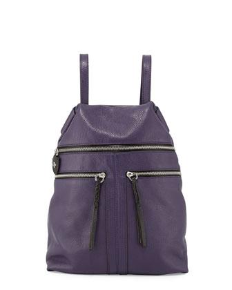 Chloe Leather Backpack, Eggplant
