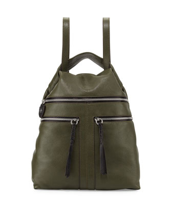 Chloe Leather Backpack, Forest