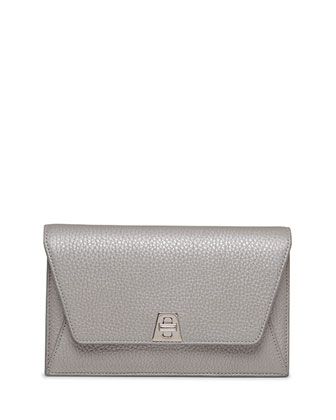 Anouk Chain Envelope Clutch Bag, Silver