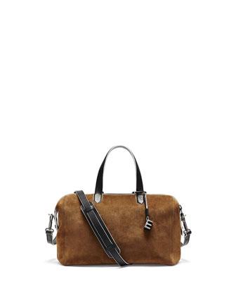 Scott Suede Crossbody Duffel Bag, Coco