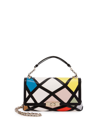 Prismick Mini Bauhaus Shoulder Bag, Multicolor