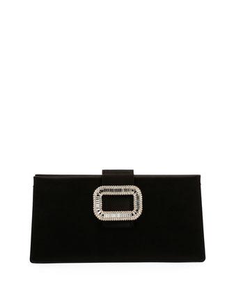 Tiffany Silk Micro Pochette Bag, Black