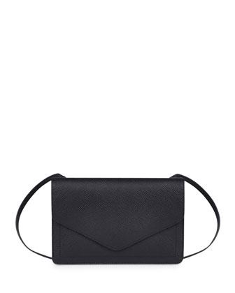 Panama Zip/Flap Crossbody Bag, Black