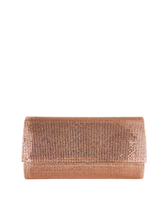 Manhattan Crystal Clutch Bag, Silver Copper