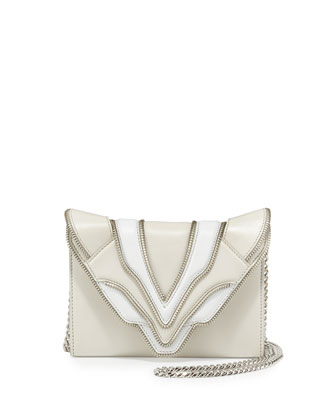 Felina Mignon Biker Shoulder Bag, White/Milk