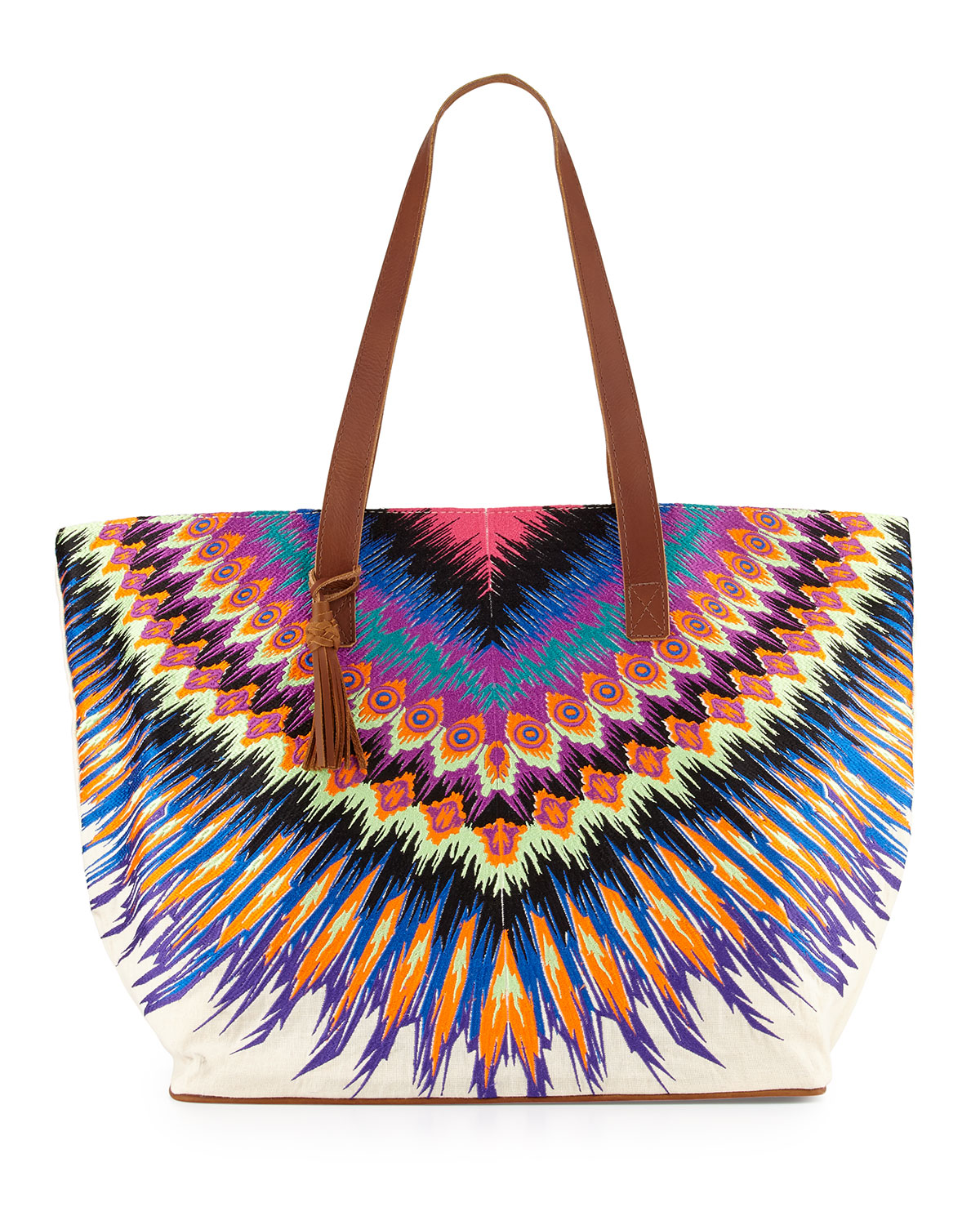 Printed Beach Tote Bag, African Rays - PilyQ