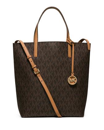 Hayley Large Convertible Tote Bag, Brown/Peanut