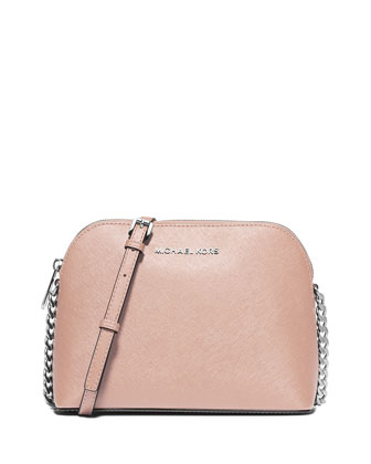 Cindy Large Dome Crossbody Bag, Ballet