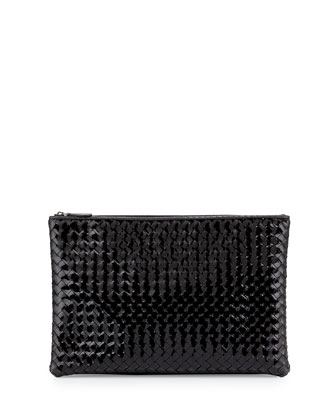 Large Zip-Top Cosmetics Bag, Nero Black