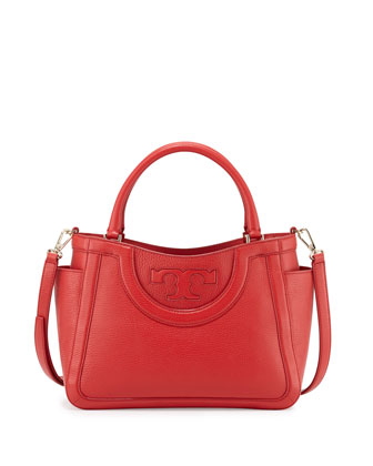 Serif T Small Satchel Bag, Vermillion
