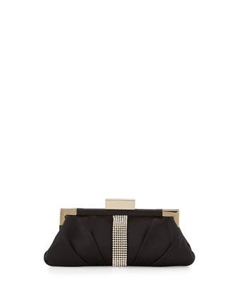 Aurore Embellished Evening Clutch Bag, Black