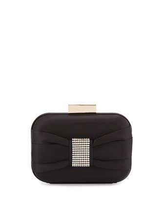 Marcell Embellished Minaudiere Evening Clutch Bag, Black