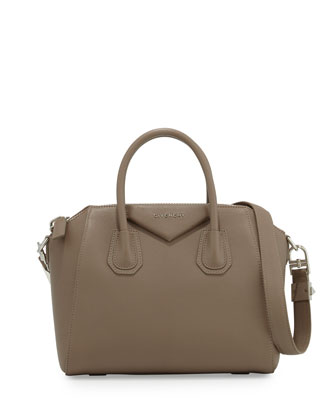 Antigona Small Sugar Goatskin Satchel Bag, Sand