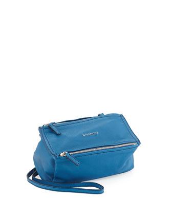 Pandora Mini Goatskin Crossbody Bag, Electric Blue