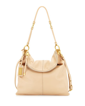 Martina Leather Tote Bag, Latte