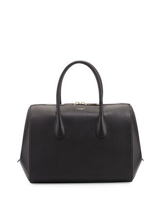 Yukali Calfskin Bowler Bag, Black