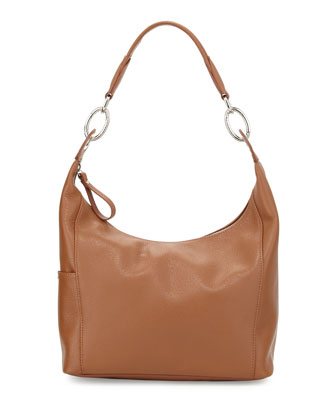 Le Foulonne Small Hobo Bag, Cognac