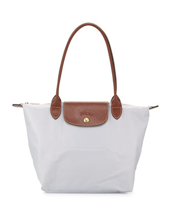 Le Pliage Medium Shoulder Tote Bag, Pearl