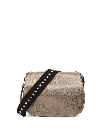 Band Rockstud Round Messenger Bag, Pewter
