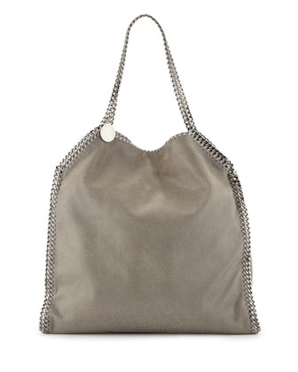 Falabella Large Tote Bag, Light Gray
