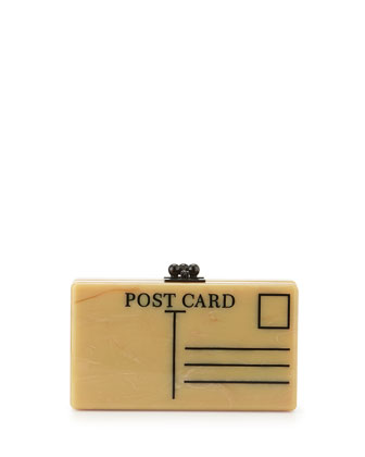 Jean Postal Box Clutch, Teastain