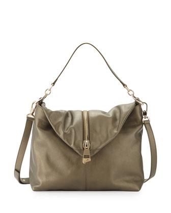 ysl cabas chyc shoulder bag - universite leather shoulder bag, olive green