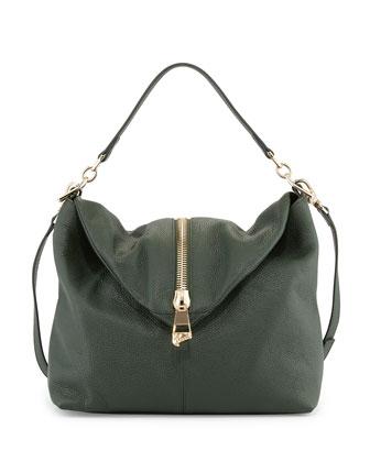 Leather Shoulder Bag, Green