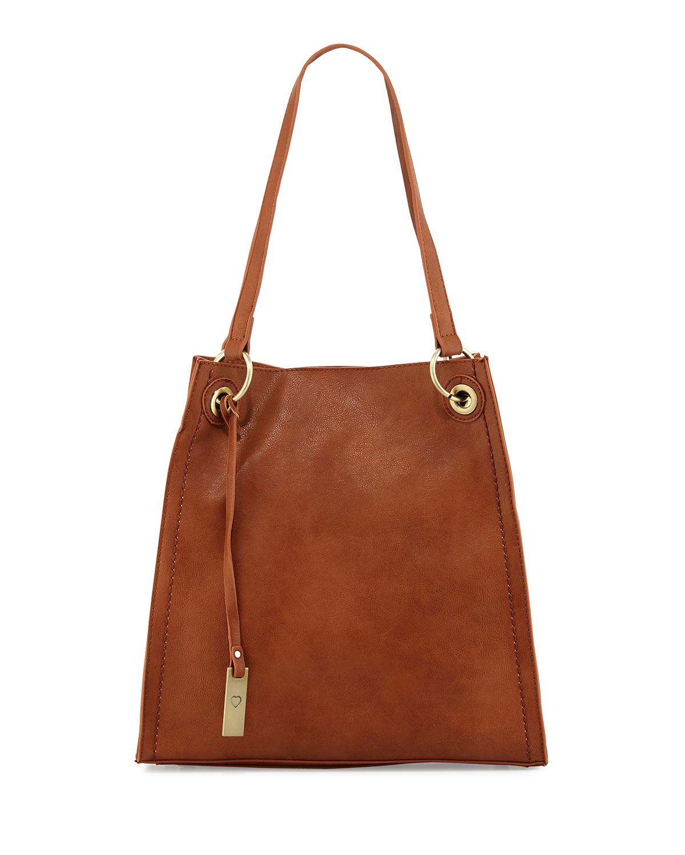Montana Faux-Leather Tote Bag, Chocolate - Urban Originals