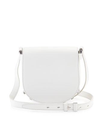 Lia Mini Soft Draped Shoulder Bag, Milk