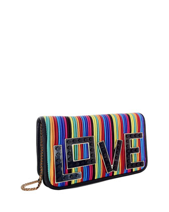 Janis Micro Black Widow Mini Clutch Bag, Multicolor