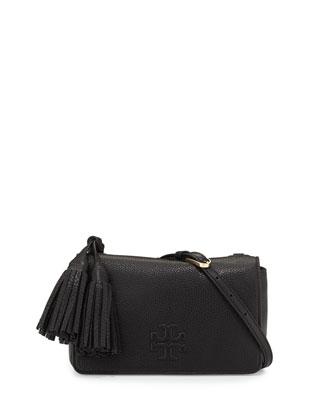 Thea Leather Mini Bag, Black