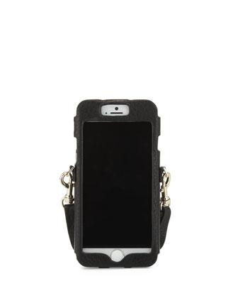 Leather Dog Clip Crossbody iPhone 6/6S Sleeve, Black