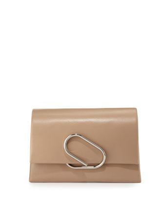 Alix Soft Flap Clutch Bag, Fawn