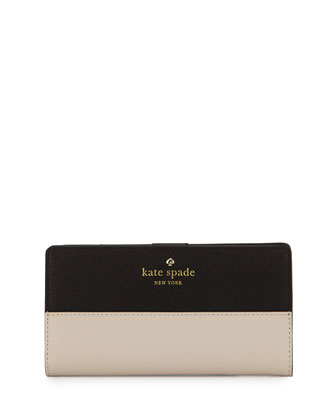 cedar street stacy wallet, black/pebble