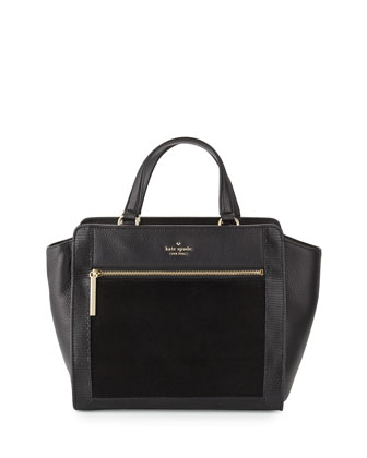 chatham lane hayden tote bag, black