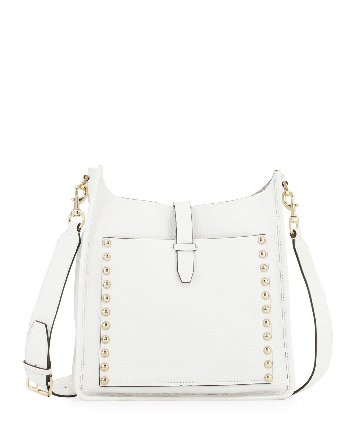 Unlined Leather Feed Bag, White - Rebecca Minkoff